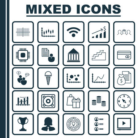transact: Set Of 25 Universal Editable Icons. Can Be Used For Web, Mobile And App Design. Includes Icons Such As Achievement Graph, Report, Chip And More.