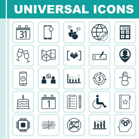 segmented: Set Of 25 Universal Editable Icons. Can Be Used For Web, Mobile And App Design. Includes Icons Such As Date, Forbidden Mobile, Segmented Bar Graph And More.