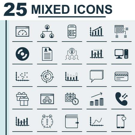 Set di 25 icone universali modificabili. Può essere usato per Web, Mobile e App Design. Include icone come Plot Diagramma, Calcolo, Alza Diagramma e altro ancora.
