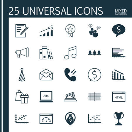 crotchets: Set Of 25 Universal Editable Icons. Can Be Used For Web, Mobile And App Design. Includes Icons Such As Crotchets, Plot Diagram, Digital Media And More.