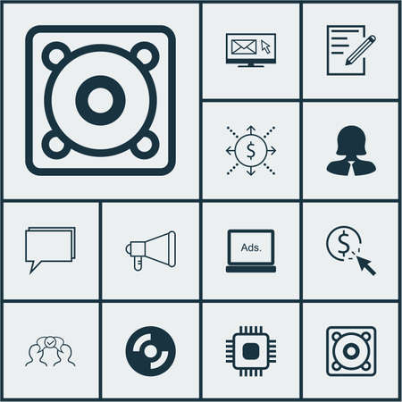 ppc: Set Of 12 Universal Editable Icons. Can Be Used For Web, Mobile And App Design. Includes Icons Such As PPC, Blank Cd, Paper And More.