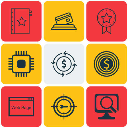 circuit sale: Set Of 9 Universal Editable Icons. Can Be Used For Web, Mobile And App Design. Includes Icons Such As Money Recycle, Keyword Marketing, Chip And More. Illustration