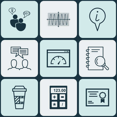 cosinus: Set Of 9 Universal Editable Icons. Can Be Used For Web, Mobile And App Design. Includes Icons Such As Analysis, SEO Brainstorm, Cosinus Diagram And More.