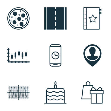 cosinus: Set Of 9 Universal Editable Icons. Can Be Used For Web, Mobile And App Design. Includes Icons Such As Cosinus Diagram, Warranty, Pizza Meal And More.