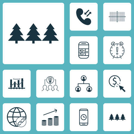 time sharing: Set Of 12 Universal Editable Icons. Can Be Used For Web, Mobile And App Design. Includes Icons Such As Coins Growth, Holiday Ornament, Calculation And More.
