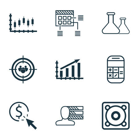 ppc: Set Of 9 Universal Editable Icons. Can Be Used For Web, Mobile And App Design. Includes Icons Such As PPC, Chemical, Personal Skills And More. Illustration