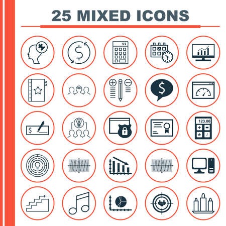 secured: Set Of 25 Universal Editable Icons. Can Be Used For Web, Mobile And App Design. Includes Icons Such As Growth, Appointment, Business Deal And More.