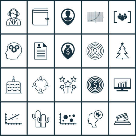 goal line: Set Of 20 Universal Editable Icons. Can Be Used For Web, Mobile And App Design. Includes Icons Such As Business Goal, Line Grid, Wallet And More. Illustration