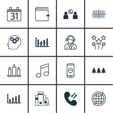crotchets: Set Of 16 Universal Editable Icons. Can Be Used For Web, Mobile And App Design. Includes Icons Such As Operator, World, Crotchets And More.