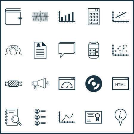 Set Of 20 Universal Editable Icons. Can Be Used For Web, Mobile And App Design. Includes Icons Such As Investment, Analytics, Cooperation And More.