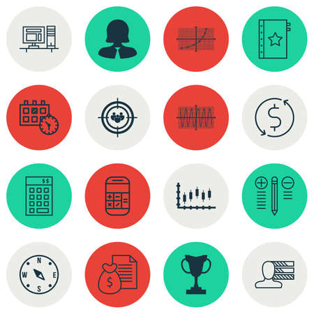 personality development: Set Of 16 Universal Editable Icons. Can Be Used For Web, Mobile And App Design. Includes Icons Such As Line Grid, Locate, Personal Skills And More. Illustration