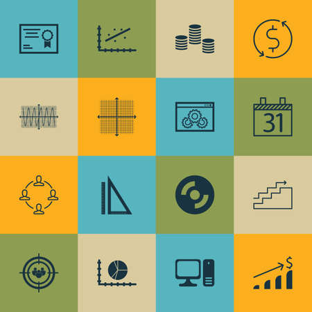 debt collection: Set Of 16 Universal Editable Icons. Can Be Used For Web, Mobile And App Design. Includes Icons Such As Measurement, Focus Group, Collaboration And More. Illustration
