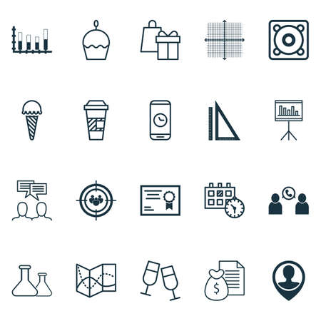 telephone interview: Set Of 20 Universal Editable Icons. Can Be Used For Web, Mobile And App Design. Includes Icons Such As Certificate, Champagne Glasses, Presentation And More.