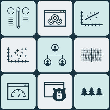 cosinus: Set Of 9 Universal Editable Icons. Can Be Used For Web, Mobile And App Design. Includes Icons Such As Security, Analytics, Cosinus Diagram And More.