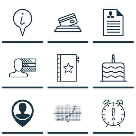 charter: Set Of 9 Universal Editable Icons. Can Be Used For Web, Mobile And App Design. Includes Icons Such As Credit Card, Line Grid, Warranty And More.