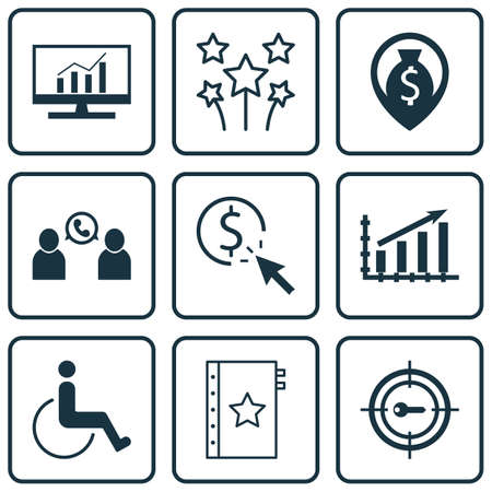 accessibility: Set Of 9 Universal Editable Icons. Can Be Used For Web, Mobile And App Design. Includes Icons Such As Phone Conference, Accessibility, Warranty And More. Illustration