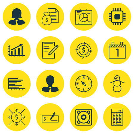 circuit sale: Set Of 16 Universal Editable Icons. Can Be Used For Web, Mobile And App Design. Includes Icons Such As Business Woman, Chip, Bars Chart And More.