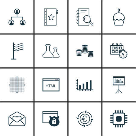 circuit sale: Set Of 16 Universal Editable Icons. Can Be Used For Web, Mobile And App Design. Includes Icons Such As Security, Graphical Grid, Appointment And More.