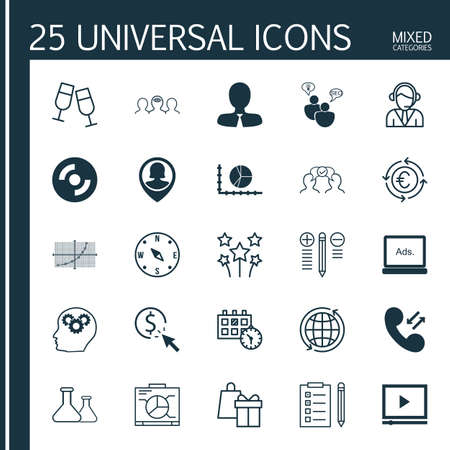 application recycle: Set Of 25 Universal Editable Icons. Can Be Used For Web, Mobile And App Design. Includes Icons Such As PPC, Currency Recycle, Digital Media And More. Illustration
