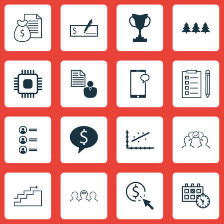 sms payment: Set Of 16 Universal Editable Icons. Can Be Used For Web, Mobile And App Design. Includes Icons Such As Report, Reminder, Job Applicants And More. Illustration