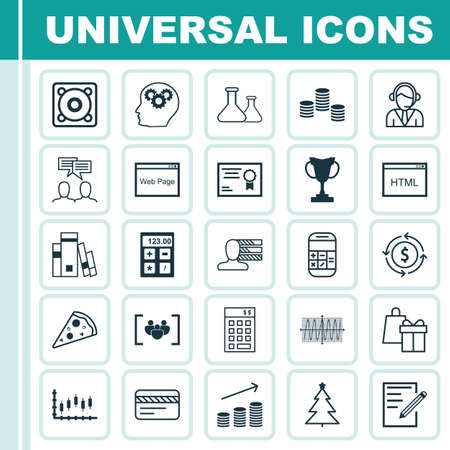 ability to speak: Set Of 25 Universal Editable Icons. Can Be Used For Web, Mobile And App Design. Includes Icons Such As Website, Decorated Tree, Calculation And More.