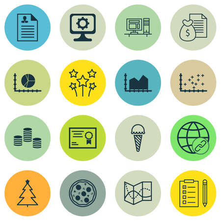 christmas debt: Set Of 16 Universal Editable Icons. Can Be Used For Web, Mobile And App Design. Includes Icons Such As Plot Diagram, PC, Sequence Graphics And More. Illustration
