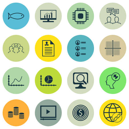 debt collection: Set Of 16 Universal Editable Icons. Can Be Used For Web, Mobile And App Design. Includes Icons Such As Business Goal, Connectivity, Graphical Grid And More.