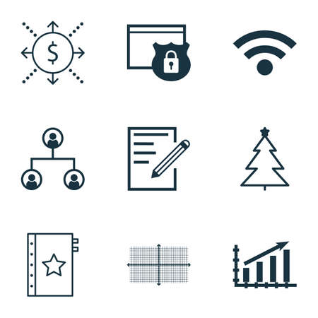 secured: Set Of 9 Universal Editable Icons. Can Be Used For Web, Mobile And App Design. Includes Icons Such As Tree Structure, Square Diagram, Paper And More.