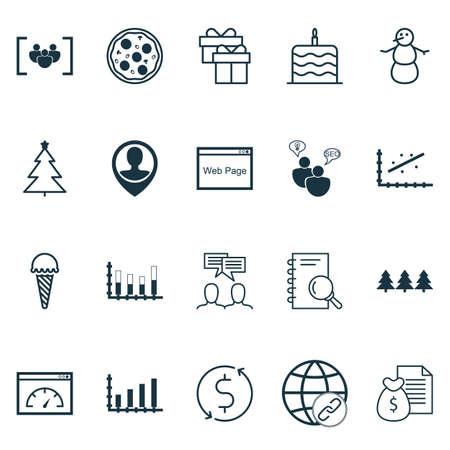 Set Of 20 Universal éditables Icons. Peut être utilisé pour le Web, Mobile Et App Design. Comprend des icônes telles que Winter, Money Trasnfer, Questionnaire Et Plus.