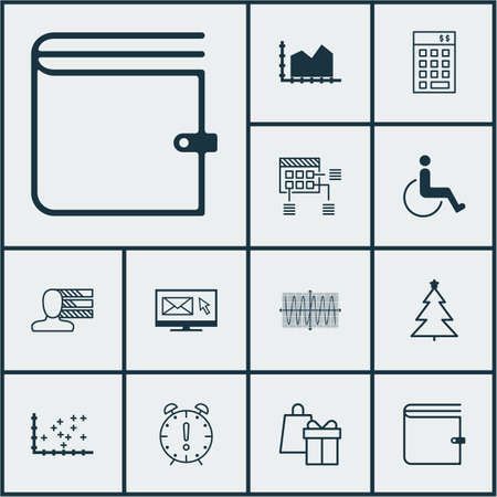 Set Of 12 Universal Editable Icons. Can Be Used For Web, Mobile ...
