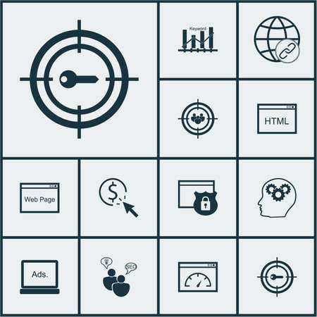 Set Of Marketing Icons On Website, PPC And Connectivity Topics. Editable Vector Illustration. Includes Link, Optimization, Page And More Vector Icons.