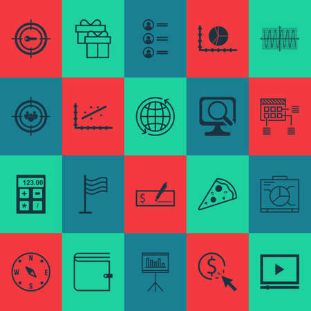 ppc: Set Of 20 Universal Editable Icons. Can Be Used For Web, Mobile And App Design. Includes Icons Such As PPC, Video Player, Financial And More.