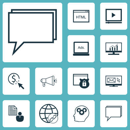 ppc: Set Of Advertising Icons On Media Campaign, PPC And Connectivity Topics. Editable Vector Illustration. Includes Pay, Online, Video And More Vector Icons.