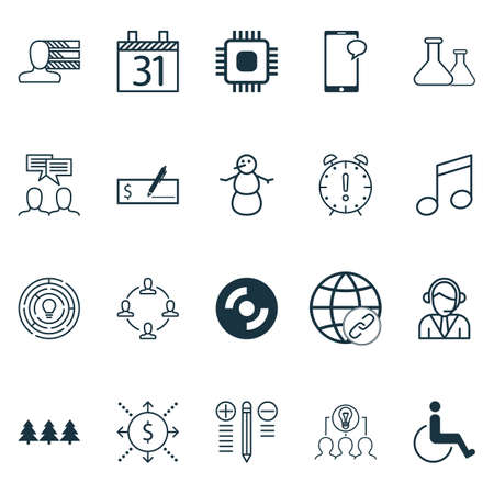 infirm: Set Of 20 Universal Editable Icons. Can Be Used For Web, Mobile And App Design. Includes Icons Such As Chemical, Holiday Ornament, Decision Making And More. Illustration