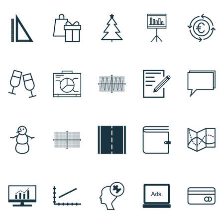 Set Of 20 Universal Editable Icons. Can Be Used For Web, Mobile And App Design. Includes Icons Such As Photo Camera, Measurement, Cosinus Diagram And More.