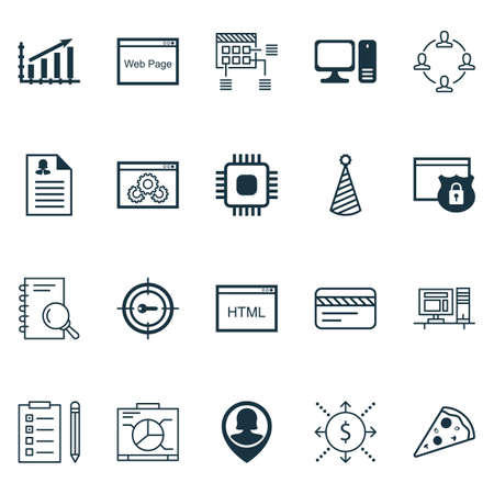 www tasty: Set Of 20 Universal Editable Icons. Can Be Used For Web, Mobile And App Design. Includes Icons Such As Board, Bank Card, Money And More. Illustration