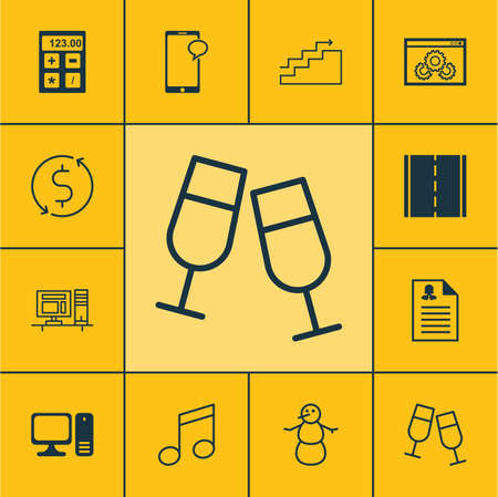 crotchets: Set Of 12 Universal Editable Icons. Can Be Used For Web, Mobile And App Design. Includes Icons Such As Financial, Growth, Crotchets And More.