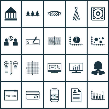 christmas debt: Set Of 20 Universal Editable Icons. Can Be Used For Web, Mobile And App Design. Includes Icons Such As Sweet, Business Woman, Music And More. Illustration