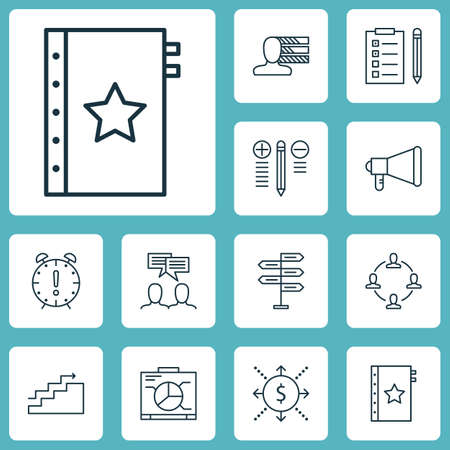 engineering icon: Set Of Project Management Icons On Reminder, Board And Discussion Topics. Editable Vector Illustration. Includes Warranty, Dashboard, Chart And More Vector Icons.