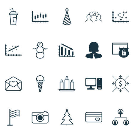 successful student: Set Of 20 Universal Editable Icons. Can Be Used For Web, Mobile And App Design. Includes Icons Such As Tree Structure, Drink Cup, Stock Market And More. Illustration