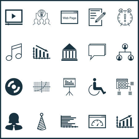 crotchets: Set Of 20 Universal Editable Icons. Can Be Used For Web, Mobile And App Design. Includes Icons Such As Blank Cd, Accessibility, Line Grid And More.