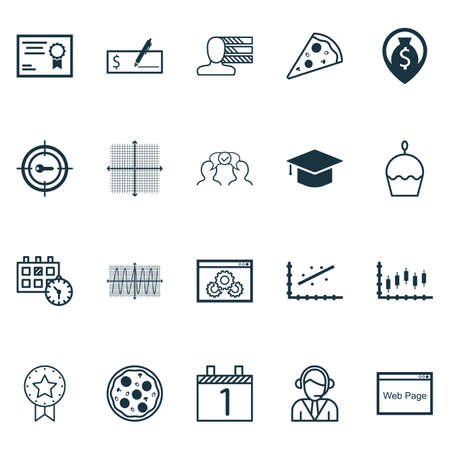cosinus: Set Of 20 Universal Editable Icons. Can Be Used For Web, Mobile And App Design. Includes Icons Such As Cosinus Diagram, Agenda, Pizza Meal And More.