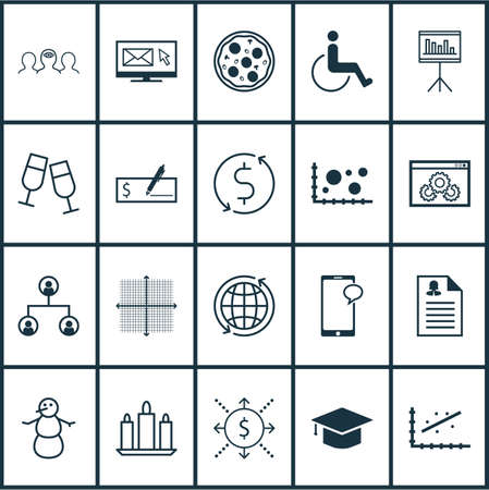 accessibility: Set Of 20 Universal Editable Icons. Can Be Used For Web, Mobile And App Design. Includes Icons Such As Analytics, Accessibility, Money Trasnfer And More.