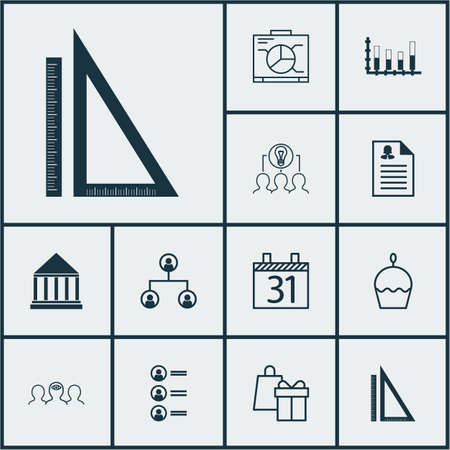 segmented: Set Of 12 Universal Editable Icons. Can Be Used For Web, Mobile And App Design. Includes Icons Such As Collaborative Solution, Segmented Bar Graph, Female Application And More. Illustration