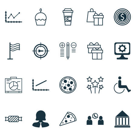 Set Of 20 Universal Editable Icons. Can Be Used For Web, Mobile And App Design. Includes Icons Such As Board, Accessibility, PC And More.