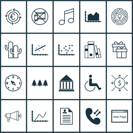 infirm: Set Of 20 Universal Editable Icons. Can Be Used For Web, Mobile And App Design. Includes Icons Such As Media Campaign, Crotchets, Money And More.