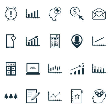 christmas budget: Set Of 20 Universal Editable Icons. Can Be Used For Web, Mobile And App Design. Includes Icons Such As Pin Employee, Paper, Stock Market And More. Illustration