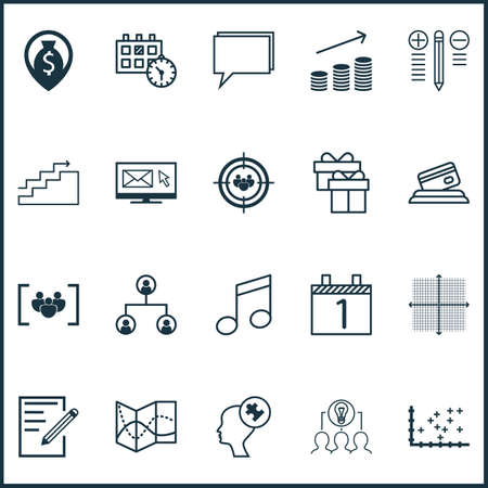 time sharing: Set Of 20 Universal Editable Icons. Can Be Used For Web, Mobile And App Design. Includes Icons Such As Road Map, Agenda, Decision Making And More.