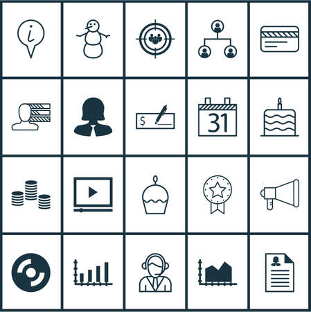 christmas debt: Set Of 20 Universal Editable Icons. Can Be Used For Web, Mobile And App Design. Includes Icons Such As Bank Card, Birthday Cake, Video Player And More.