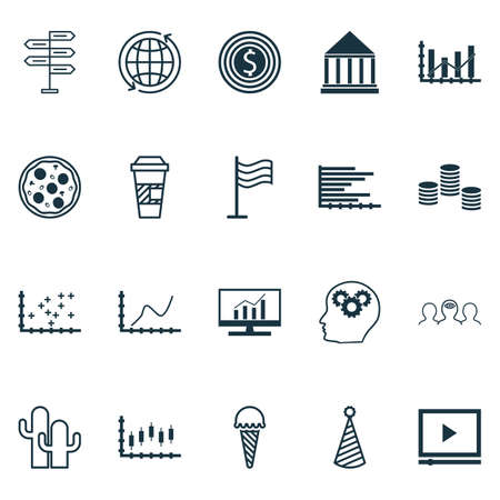 creative potential: Set Of 20 Universal Editable Icons. Can Be Used For Web, Mobile And App Design. Includes Icons Such As Pin, Achievement Graph, Raise Diagram And More.